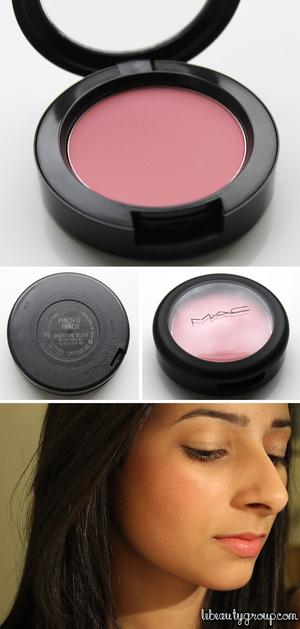 MAC Pinch O' Peach Sheertone Blush (Review + Swatches)