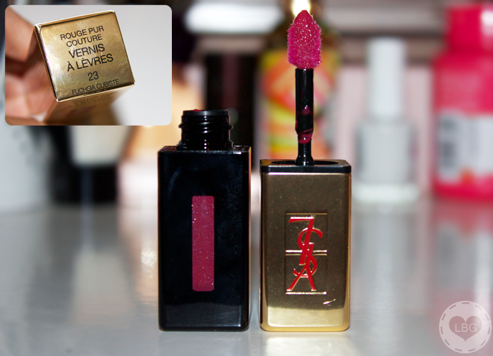 Christmas Challenge: 30 Lipsticks in 30 Days #12 YSL Glossy Stain Fuchsia Cubiste
