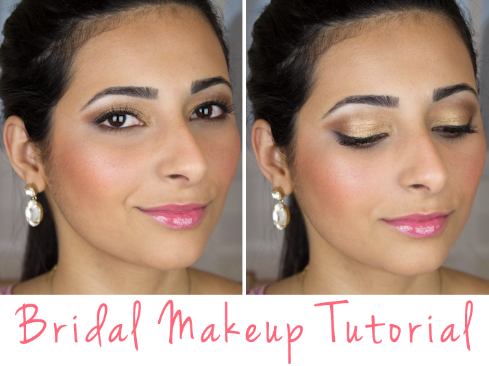 Bridal Makeup Tutorial: Brown and Gold Smokey Eye