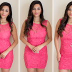 Lipsy Lace and Sequin Bodycon Dress
