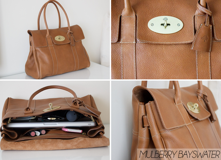 9f0a627ff6 Mulberry Bayswater Review Oak Natural Leather What s In My Bag ...