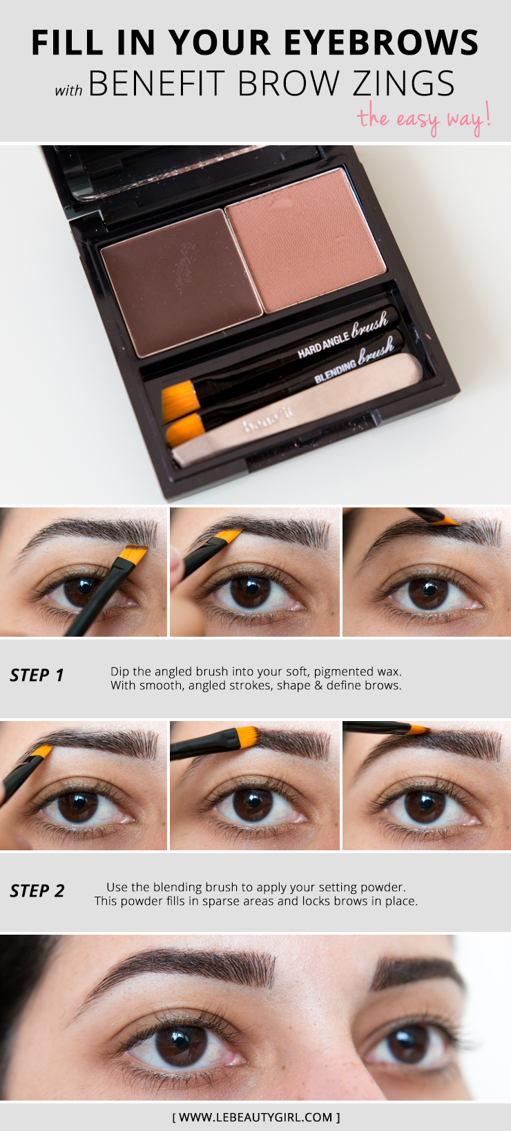 How To Fill In Eyebrows With Benefit Brow Zings Beauty Girl