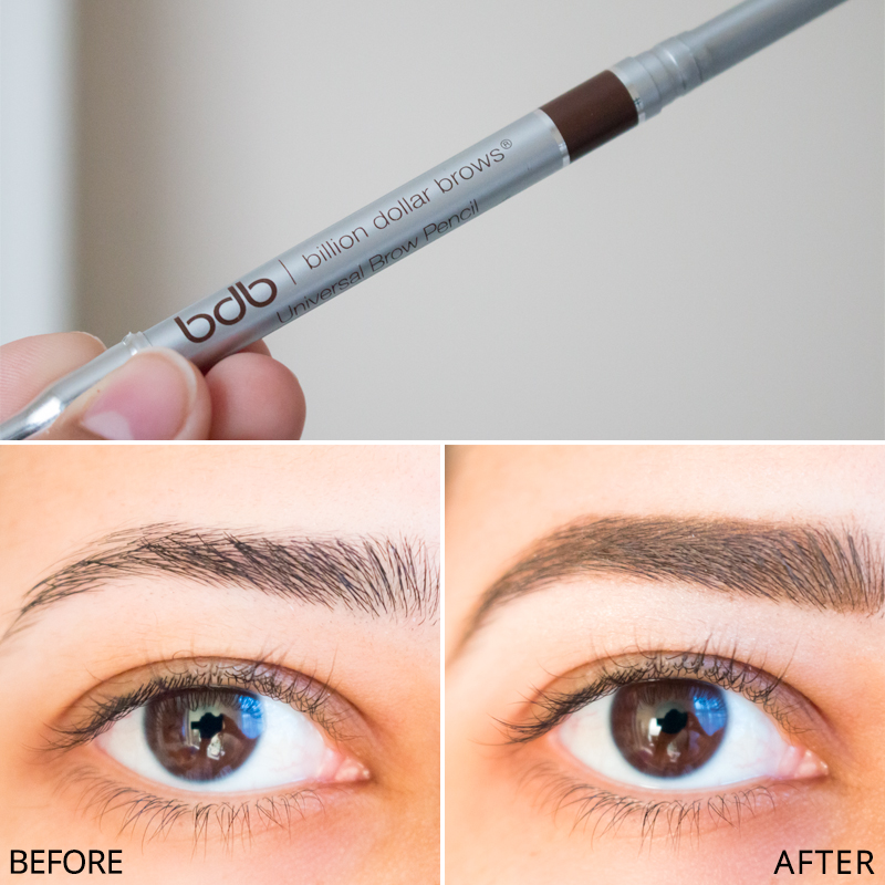Billion Dollar Brows Universal Brow Pencil Review Before After