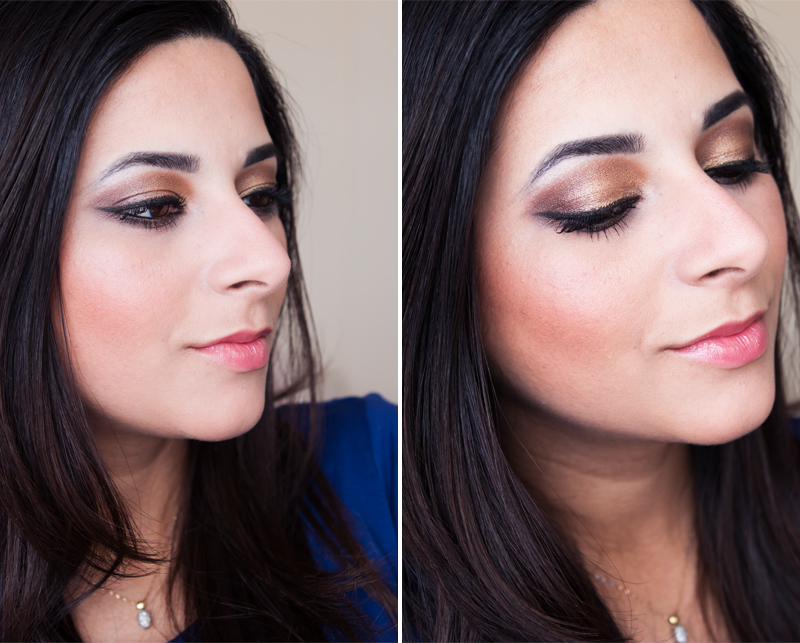 Bronze Smokey Eye Tutorial for Brown Eyes