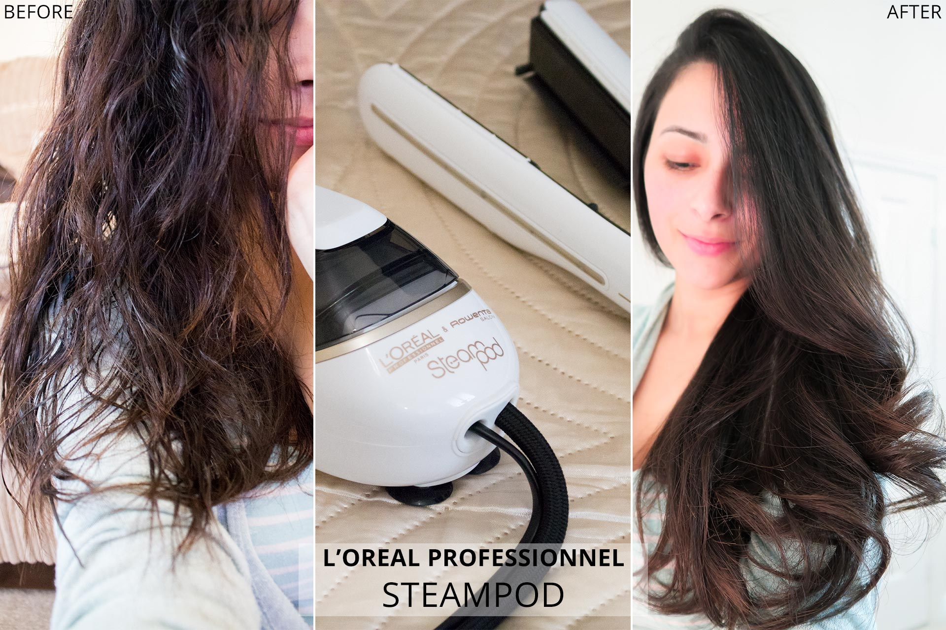 Review: L'Oreal Steampod 2.0 Straightener (Before & After)