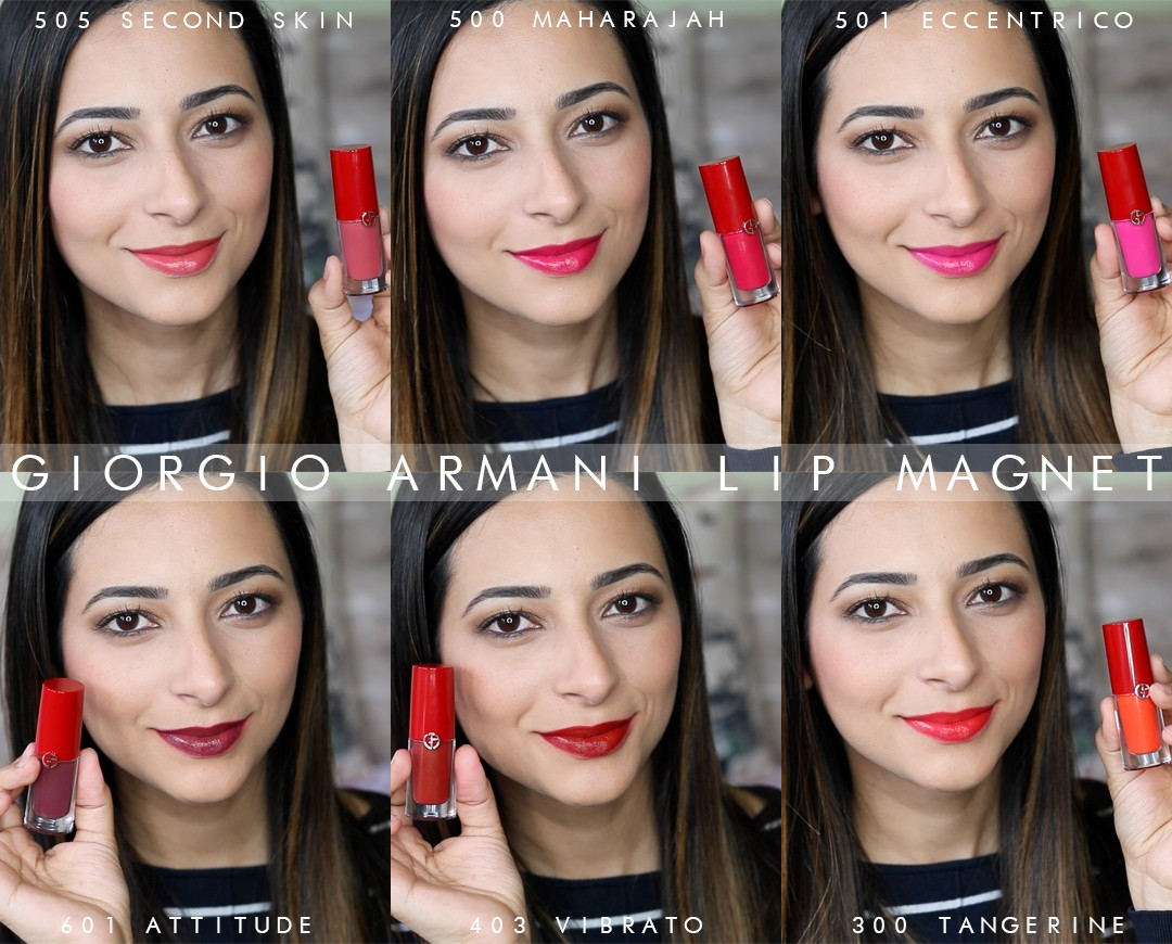 Giorgio Armani Lip Magnet Swatches and Review