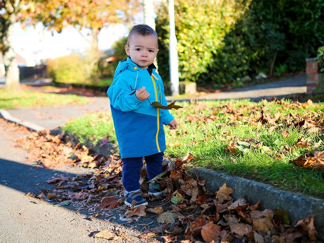Polarn O. Pyret Shell Jacket Review & Winter Lookbook for Kids