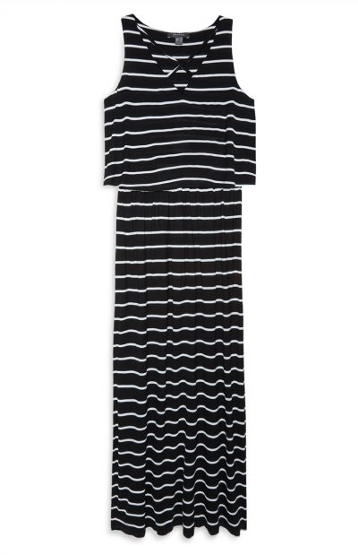 Primark Black & White Maxi Dress