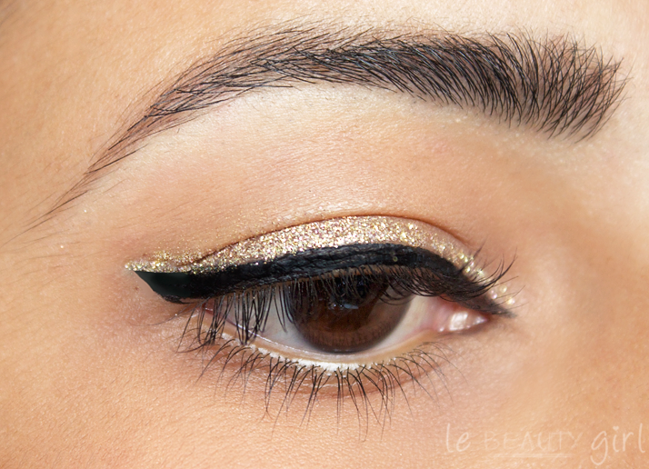 Makeup Black And Gold Double Liner