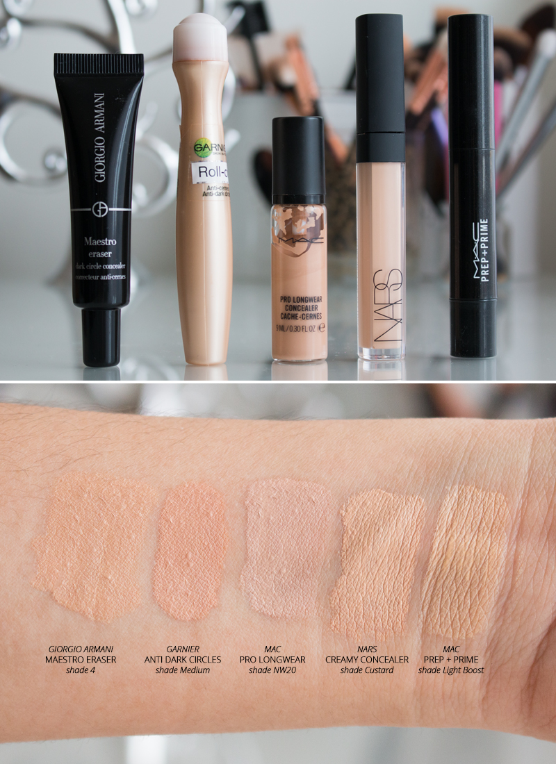 My Top 5 Concealers 2015 Swatches Photos